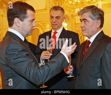 New ambassadors present credentials to president Medvedev - Stock Photo