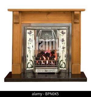 Victorian fireplace - Stock Photo