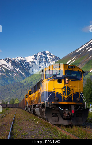 Alaska Railroad, Seward, Alaska. - Stock Photo
