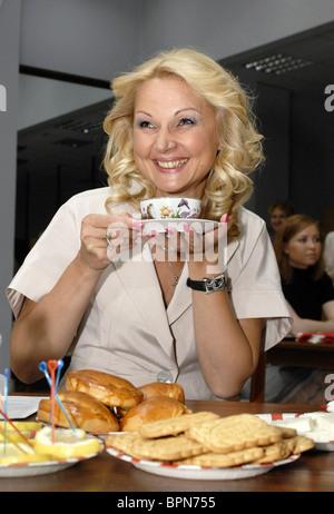 Health minister Golikova volunteers to donate blood - Stock Photo