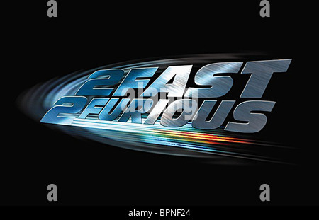 FILM ARTWORK 2 FAST 2 FURIOUS: THE FAST AND THE FURIOUS 2 (2003) - Stock Photo
