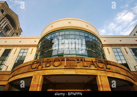 Cabot Place West Shopping Mall, Canary Wharf, Docklands, London, England - Stock Photo