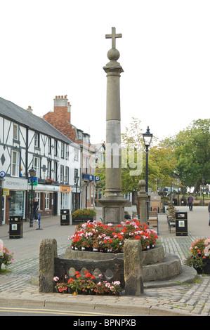 The stocks in Poulton-le-Fylde Lancashire,England