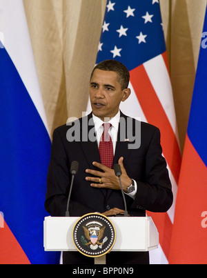Medvedev, Obama hold talks in Moscow - Stock Photo