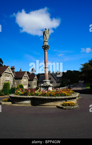 Ford Northumberland remembrance fountain Ford Village - Stock Photo