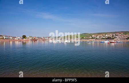 Boats on the river Teign at Teignmouth, Devon, UK - Stock Photo