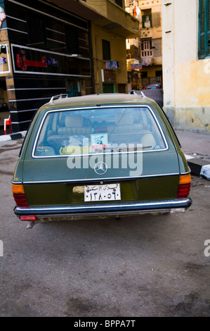 An old Mercedes Benz car in Egypt. - Stock Photo