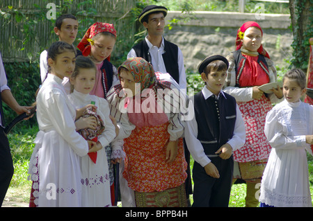 Wedding customs of the village of Banat Bulgarians Bardarski Geran - Stock Photo