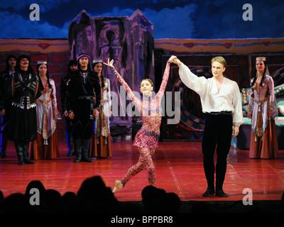 Tamar ballet remake performed at Mikhailovsky Theater - Stock Photo