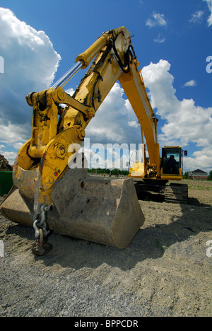 Front End Loader At A Construction Site Plymouth