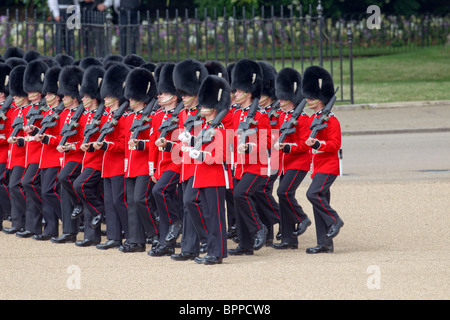 Grenadier Guards, marching from the Mall onto Horse Guards Parade. 'Trooping the Colour' 2010 - Stock Photo