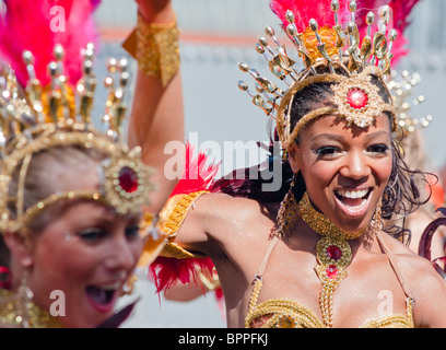 Showgirls at the Notting Hill Carnival (2010), London - Stock Photo