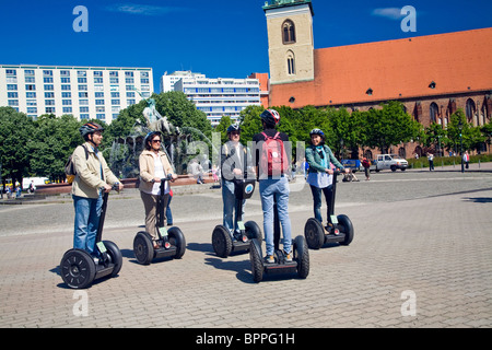 Training Course in using the Segway PT in Berlin;Germany - Stock Photo