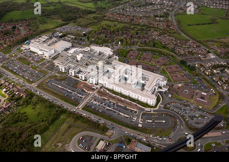 An aerial view of Russells Hall Hospital Dudley West Midlands England Uk - Stock Photo