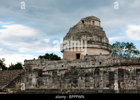 Observatory, El Caracol, Chichen Itza ruins, The Yucatan, Mexico - Stock Photo