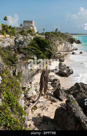 El Castillo, Tulum ruins, The Yucatan, Mexico - Stock Photo