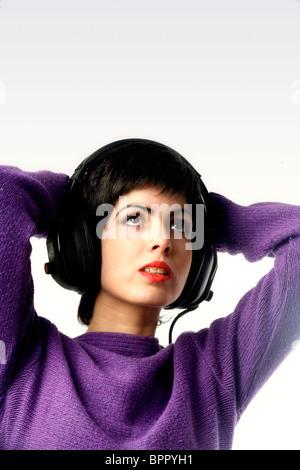 A girl listening music - Stock Photo