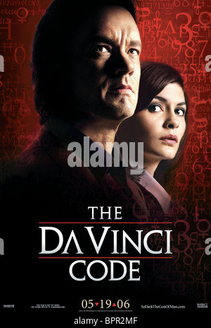 Hanks Poster The Da Vinci Code 2006 Stock Photo Alamy