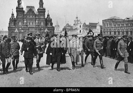 Vladimir Lenin at Red Square in Moscow, 1919 - Stock Photo