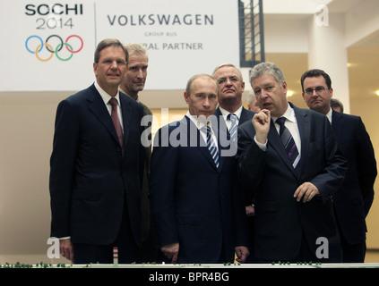 Putin visits Kaluga-based Volkswagen plant - Stock Photo