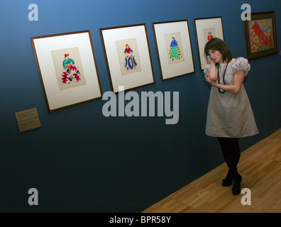 Exhibition marking 100th anniversary of Dyagilev's Russian Seasons in Paris - Stock Photo