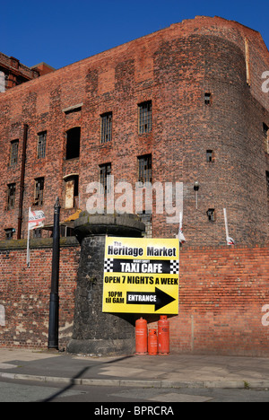 Part of the Tobacco Warehouse complex by Stanley Dock on the Dock Road in Liverpool. - Stock Photo