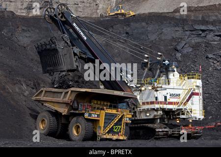 Albian Sands Oil Sands Mine, Fort McMurray, Canada - Stock Photo