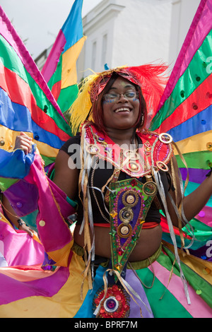 Dancer at the Notting Hill Carnival - Stock Photo