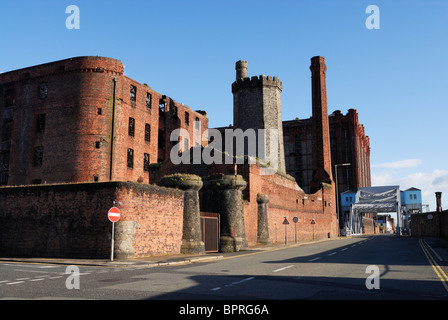 Stanley Dock in Liverpool grade II listed buildings - Stock Photo