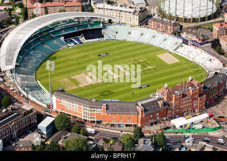 Aerial view of The Oval, cricket ground in Kennington, London, England. It is an international and county cricket - Stock Photo