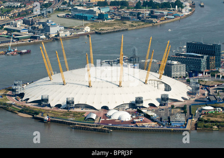 The O2 on North Greenwich Peninsula - Stock Photo