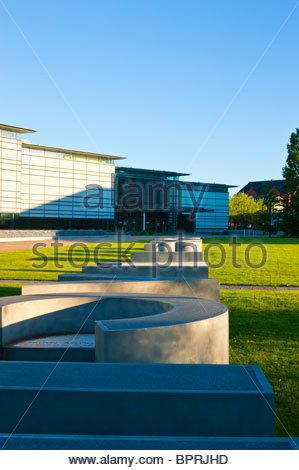 National Waterfront Museum in the Maritime Quarter at Swansea Wales - Stock Photo