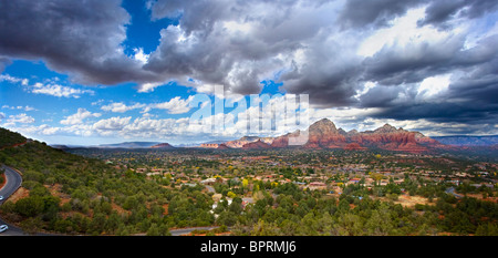 A view from the airport vortex in Sedona Arizona - Stock Photo