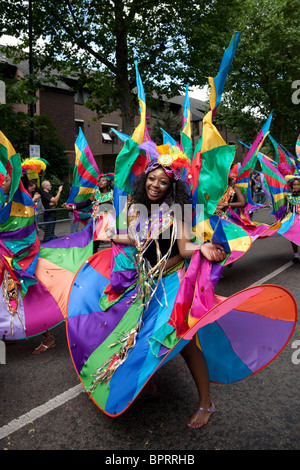 Notting Hill Carnival parade 2010 - Stock Photo