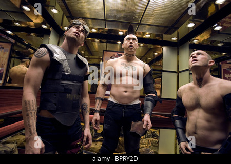 CHRIS PINE KEVIN DURAND & MAURY STERLING SMOKIN' ACES; SMOKING ACES (2006) - Stock Photo