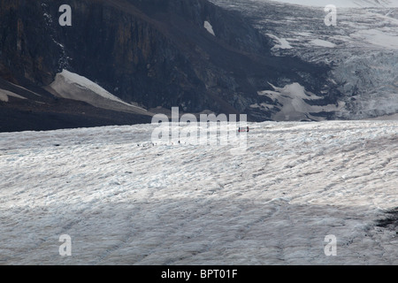 Close Up View of the Edge of the Athabasca Glacier, Banff National Park, Alberta, Canada - Stock Photo