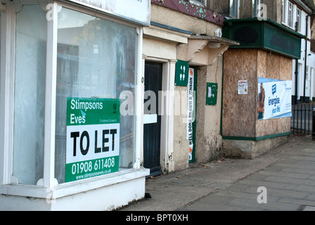 To Let Shop Window - Stock Photo