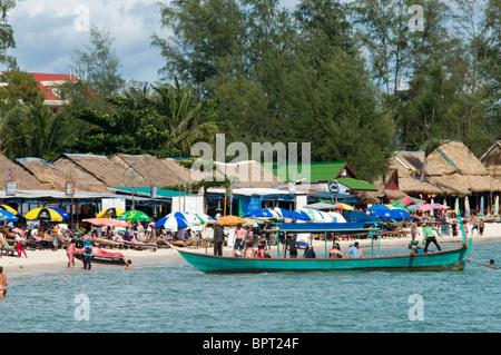Ocheateal Beach, Sihanoukville, Cambodia - Stock Photo