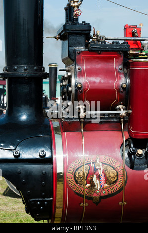 Vintage Steam traction engines at Great Dorset steam fair in England - Stock Photo