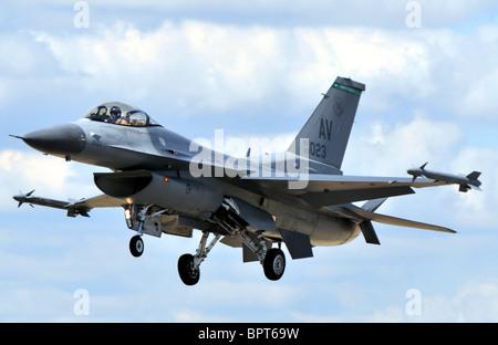 Lockheed F-16C Falcon jet fighter, F16, F-16 - Stock Photo