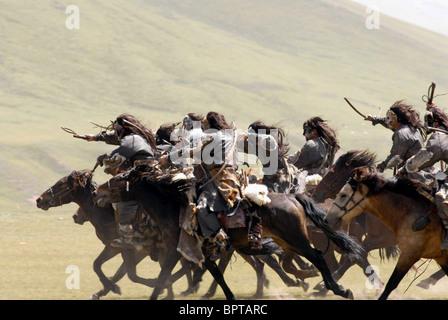 HORSEMEN CHARGE MONGOL (2007) - Stock Photo