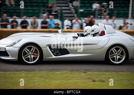 Mercedes being driven at the 2009 Festival of Speed in Goodwood. Jack Moon Photography - Stock Photo