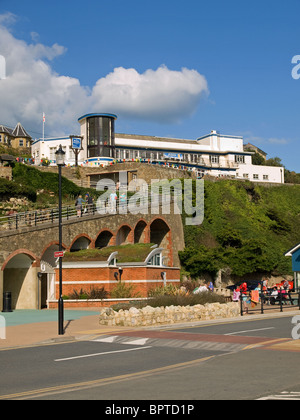 View looking towards part of the Cascade footpath and the Winter Gardens at Ventnor Isle of Wight England UK - Stock Photo