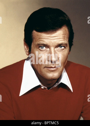 ROGER MOORE ACTOR (1982) - Stock Photo