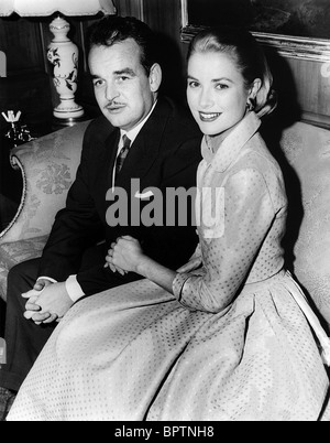 PRINCE RAINIER III & GRACE KELLY PRINCE & PRINCESS OF MONACO (1956) - Stock Photo