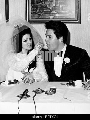 PRICILLA PRESLEY & ELVIS PRESLEY WIFE AND HUSBAND (1967) - Stock Photo