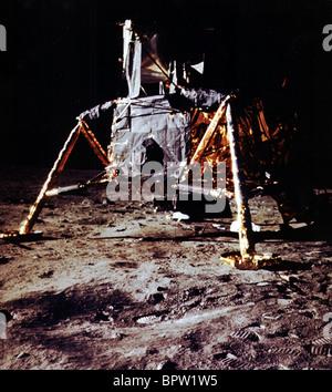 EAGLE LUNAR MODULE ON MOON APOLLO 11 (1969) - Stock Photo