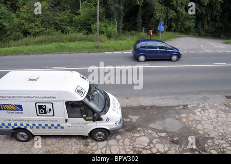 English British Police Van Parked In York City Centre Next