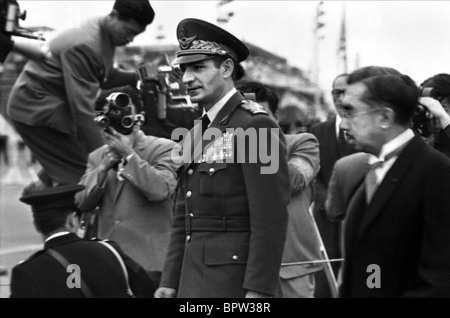 MOHAMMAD-REZA SHAH PAHLAVI & HIROHITO SHAH OF IRAN WITH EMPEROR 01 June 1958 JAPAN - Stock Photo