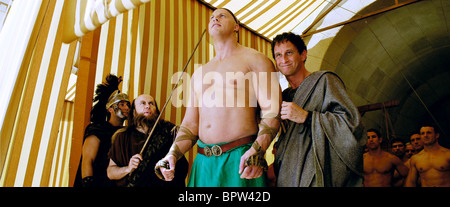 NATHAN JONES & BENOIT POELVOORDE ASTERIX AT THE OLYMPIC GAMES (2008) - Stock Photo